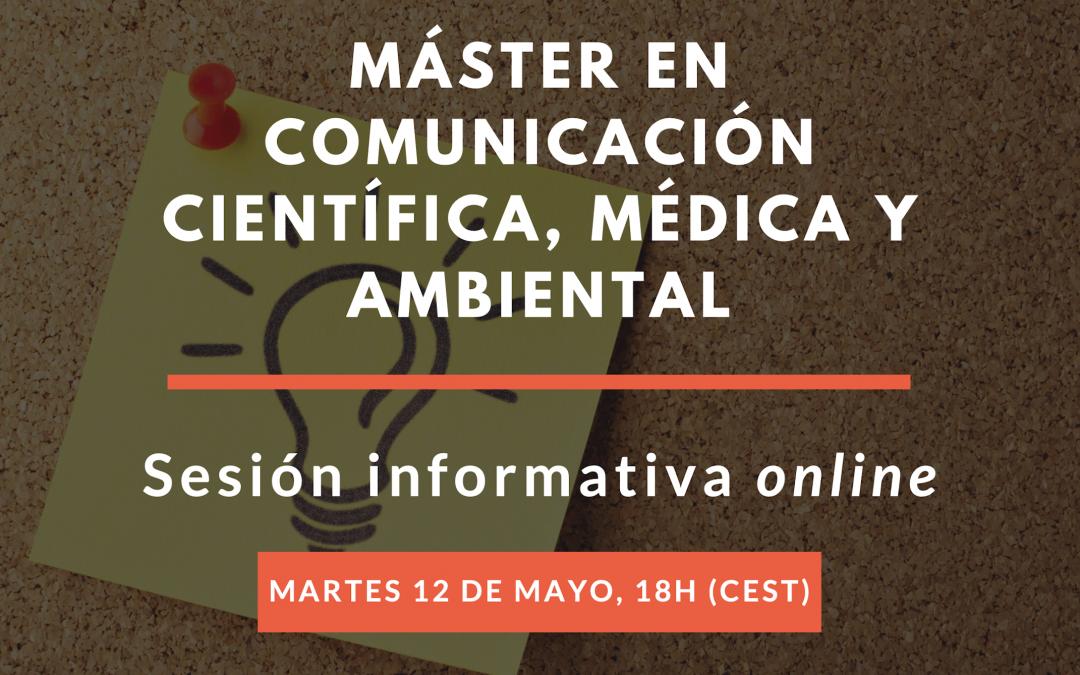 Sesión informativa del Máster en Comunicación Científica, Médica y Ambiental