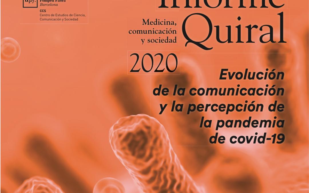 Evolució de la comunicació i la percepció de la pandèmia de covid-19: presentació de l'Informe Quiral 2020