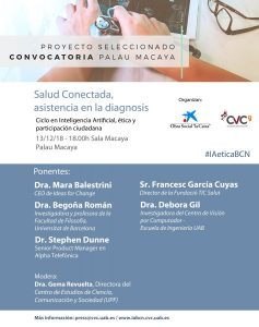 """Gema Revuelta will moderate the conference """"Connected Health, assistance in the diagnosis"""""""
