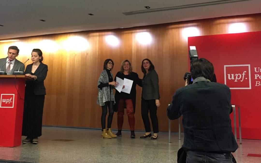 """Gema Revuelta i Carolina Llorente guanyen un premi de """"Qualitat en la Docència"""" per una """"Activitat Docent dins d'un Màster"""""""