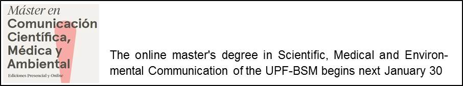 The 6th edition of the online Master's Degree in Scientific Communication begins next January 30