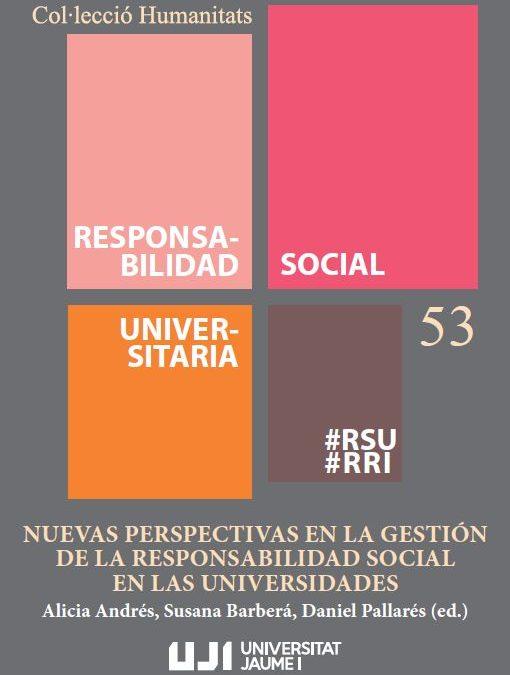 Nuevo libro de la Universitat Jaume I sobre Responsabilidad Social Universitaria