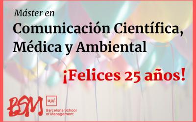 Empieza la vigésimo quinta edición del Máster en Comunicación Científica, Médica y Ambiental
