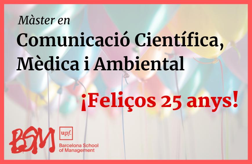 Comença la vint-i-cinquena edició del Màster de Comunicació Científica, Mèdica i Ambiental