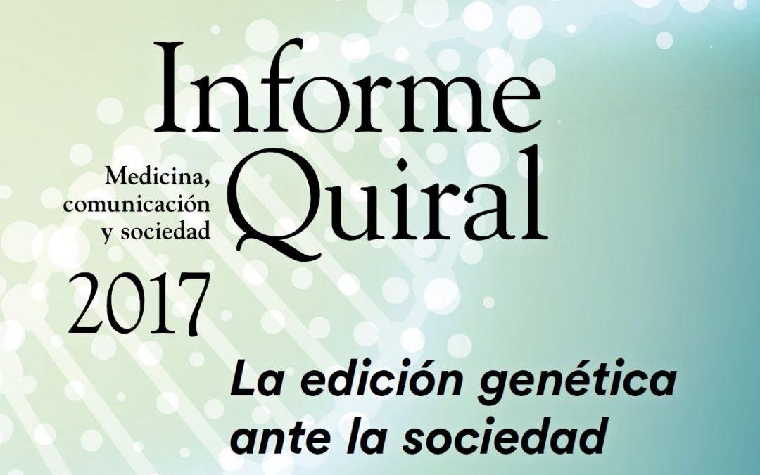 13.06.2018 L'edició genètica davant la societat, presentació de l'Informe Quiral 2017