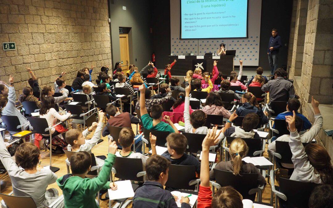 1.000 alumnes de primària participen en el 3r congrés Investiga amb RecerCaixa!