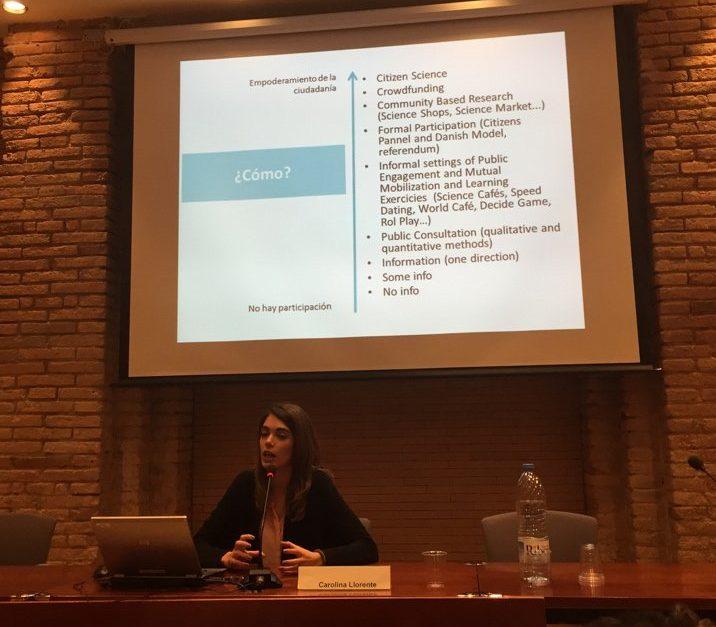 Carolina Llorente participa en la 7a trobada de Gestors de Projectes Europeus de Catalunya