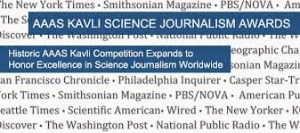 Call for Entries for AAAS Kavli Science Journalism Awards