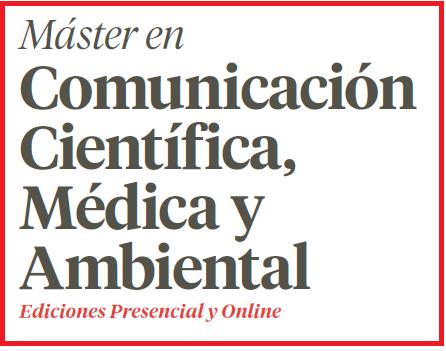 El 17 de mayo sesión informativa del Máster en Comunicación Científica