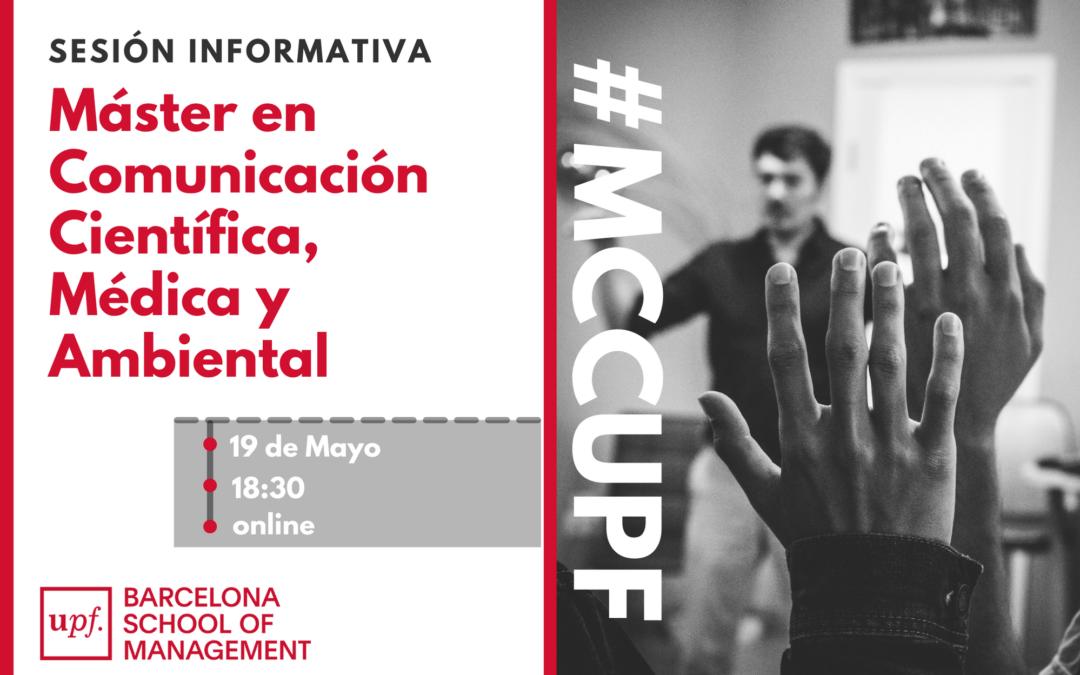 19 de mayo: Sesión informativa del Máster en Comunicación Científica, Médica y Ambiental