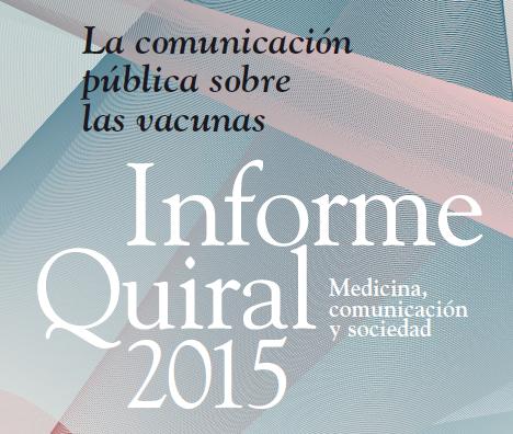 """Disponible online l'Informe Quiral """"La comunicació pública sobre les vacunes"""""""