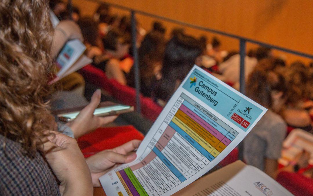 Comienza la convocatoria de propuestas para el X Campus Gutenberg-CosmoCaixa 2020 (este año online)