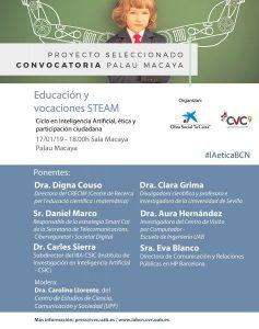 """Carolina Llorente moderarà el debat """"Educación y vocaciones STEAM"""" el pròxim 17 de gener"""